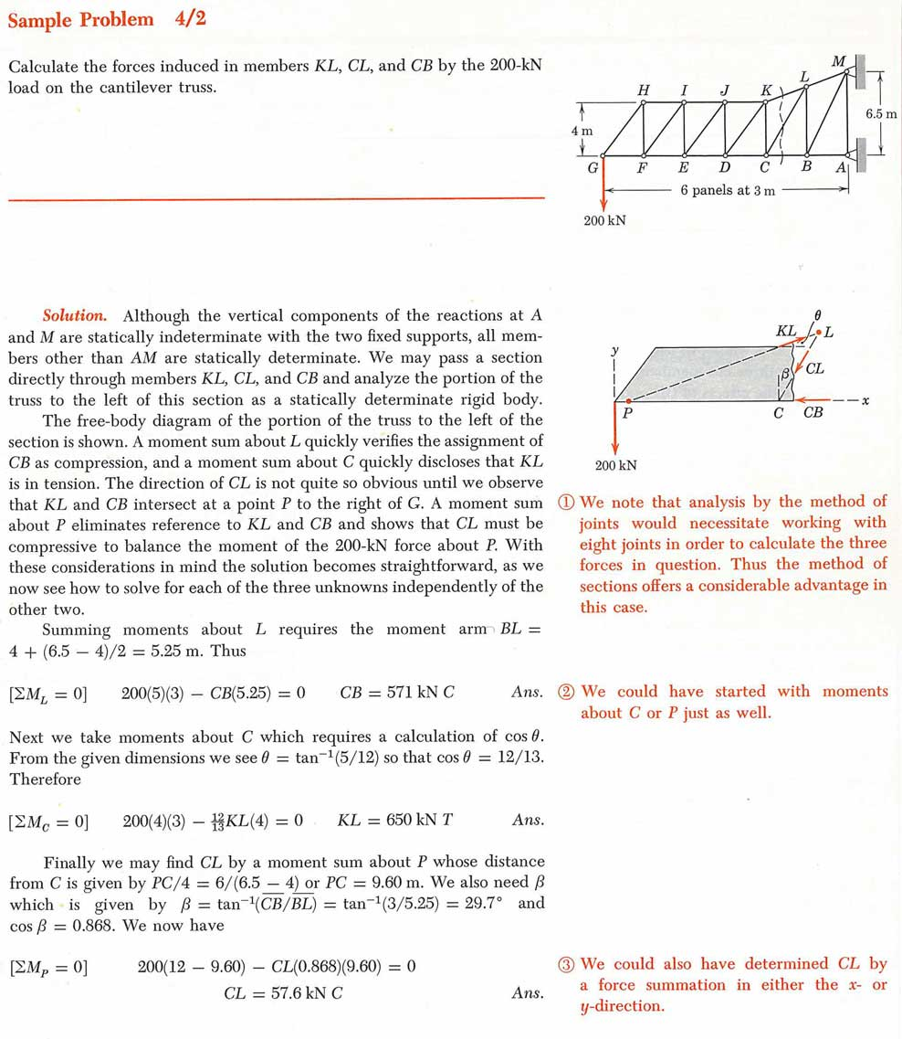 Trusses Examples Of Free Body Diagram Mechanical Engineering Assignment From Ljmiriam Statics Si Version Vol 1 John Wiley Sons 1980