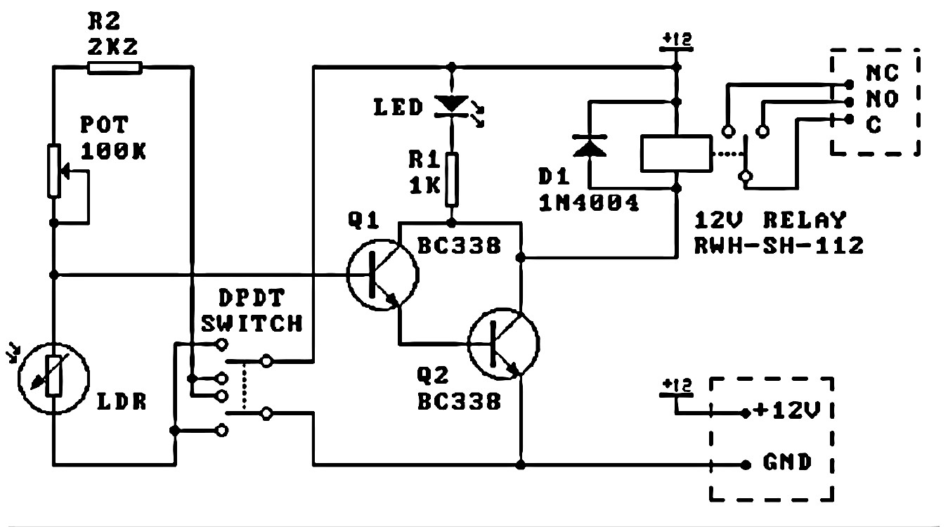 Interfacing Transistor Switch 12v Relay This Circuit Is Very Similar But Uses A Third Pnp Type For The Full Description Click Here
